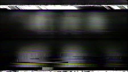 VHS Glitches Analog Abstract Digital Animation. Old TV. Glitch Error Video Damage. Signal Noise. System error. Unique Design. Bad signal. Digital TV Noise flickers. Green noisy spots Wideo