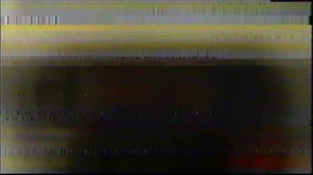 VHS Glitches Analog Abstract Digital Animation. Old TV. Glitch Error Video Damage. Signal Noise. System error. Unique Design. Bad signal. Digital TV Noise flickers. Red-orange artifact Stock Footage