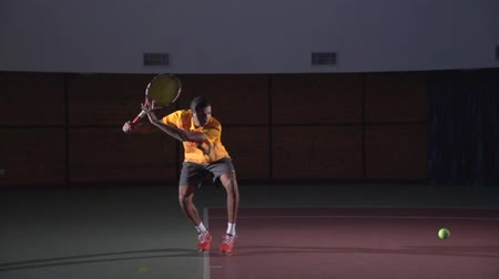 tennis game : Tennis shots: Forehand (slow motion)