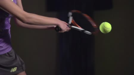 tennis game : Tennis shots: Slice(slow motion)