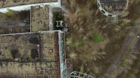 nuclear accident : Pripyat ghost town near Chernobyl Aerial Stock Footage