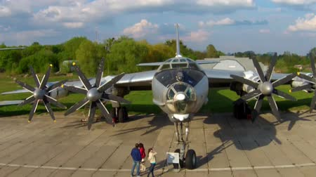 авиация : The Tupolev Tu142 at the aviation museum in Kiev