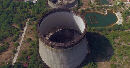 chernobyl : Cooling tower unfinished srade of the Chernobyl nuclear power plant Aerial