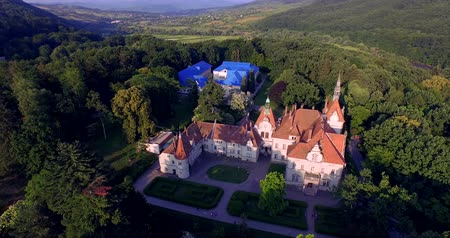 konak : Shenborn Castle is a romantic mansion, located in the West Transcarpathian region in Ukraine. It is one of the most beautiful monuments of the 19th century and the whole castle is surrounded by a picturesque park, a nice little lake.