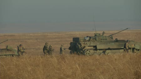 Украина : Infantry fighting vehicle on the batlefield. Military armored vehicles training