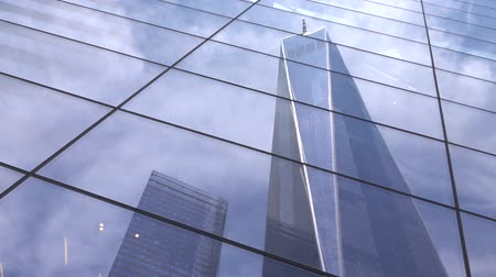 new world : New world trade center building in New York city and its reflection. One World Trade Center, Freedom Tower