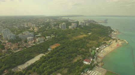 branqueamento : Aerial View. Odessa city %u0441ostline. Stock Footage