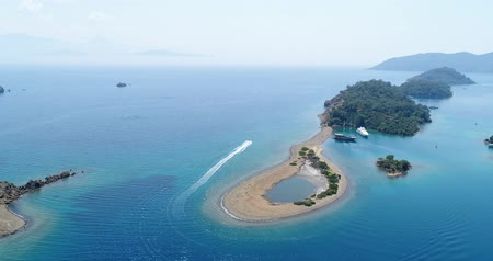 fethiye : Amazing aerial view of crystal clear blue water. Turkey.