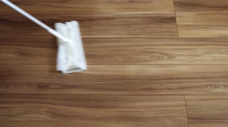 столовая : Image of cleaning flooring Стоковые видеозаписи