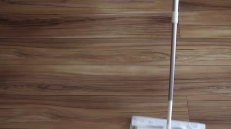 mopping : Image of cleaning flooring Stock Footage