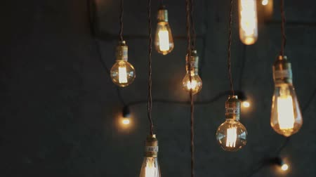oŚwietlenie : Old style glowing tungsten light bulbs, luxury lighting vintage decor