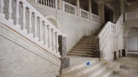 lépcsőfok : a view of the ancient marble staircase, which was abandoned, the entrance to the architectural takes place on the steps, a beautiful Baroque structure