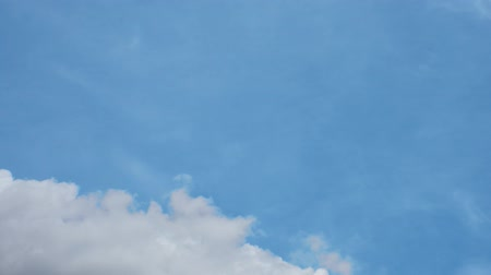Cloudscape of natural sky with blue sky and white clouds in the sky use for wallpaper background Wideo