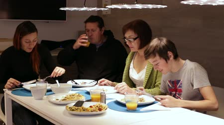 italian food : Family enjoying a meal, food pizza meal togetherness concept.