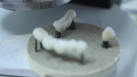 sahte : Dentures, Artificial Teeth Stok Video