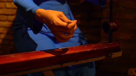 színárnyalat : Womens hands played on the dan bau
