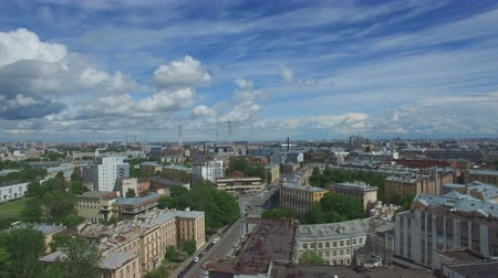 kazanskiy : View of the city of St. Petersburg with quadrocopter