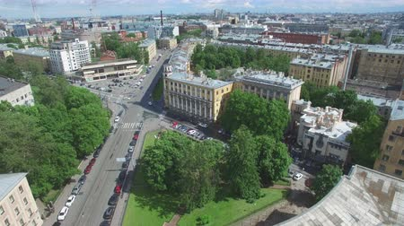 kazanskiy : Shooting from a flying quadrocopter over the city of St. Petersburg. Part 1 Stock Footage