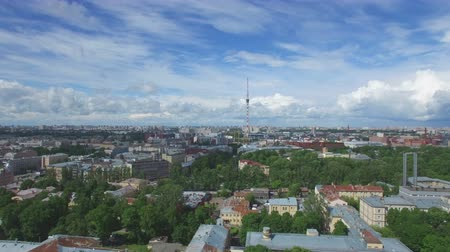 kazanskiy : A view of the St. Petersburg TV tower with a quadrocopter. The Petrogradsky district.