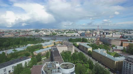 kazanskiy : Shooting from the flying quadrocopter of the city of St. Petersburg. Part 3 Stock Footage