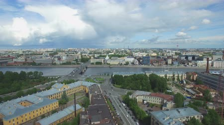 kazanskiy : Shooting from the flying quadrocopter of the city of St. Petersburg. Part 6 Stock Footage