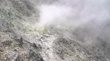 furnas : Volcanic gas output through fumaroles Stock Footage