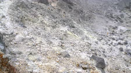 fumarole : Volcanic ash in the crater of a volcano