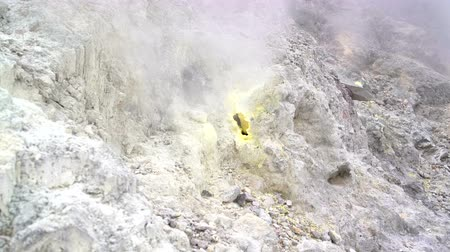 geyser iceland : Fumarola in the crater of a volcano