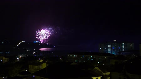 haziran : Fireworks over night city