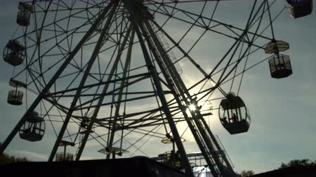 Silhouette. Attraction ferris wheel