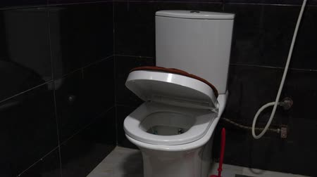 lids : Toilet lid slowly lowered