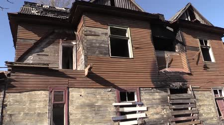 blight : Abandoned houses Jews in Brest Stock Footage