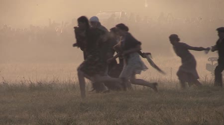 war field : Wounded men, women and children Stock Footage