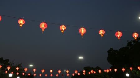 Traditional Chinese New Year Lantern at night time