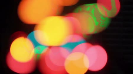 tündér : defocused and blurred rotating christmas lights