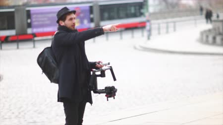 microstock : Indie Filmmaker Giving Out Directions