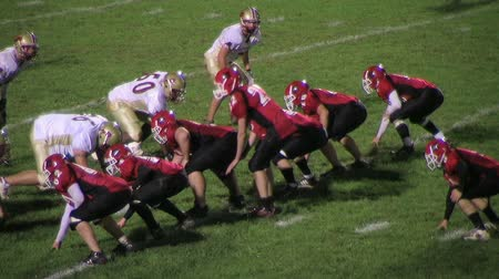 futbol : BUTLER - OCTOBER 26: Pendleton County Wildcat running back (name withheld) from Butler, KY, falls short of goal line during a high school game against the Garrard County Golden Lions October 26, 2007 in Butler, Kentucky.