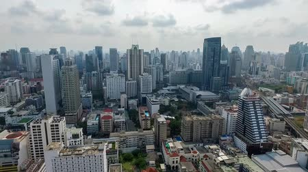 converge : Central Bangkok City Panorama South West Aerial Video