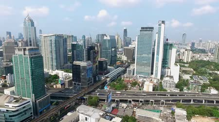 converge : Bangkok City Panorama, Nana and Sukhumvit Road North East Aerial Video