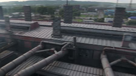 bowels : The metallurgical plant Stock Footage