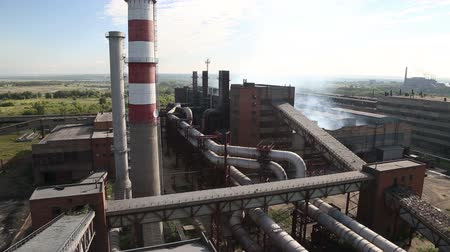 alumínium : The metallurgical plant Stock mozgókép