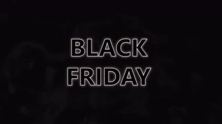 Black Friday sale for Marketing discount promotion video, Slow motion animation black wave background, Motion background 3D CG 4k Ultra HD 3840x2160.
