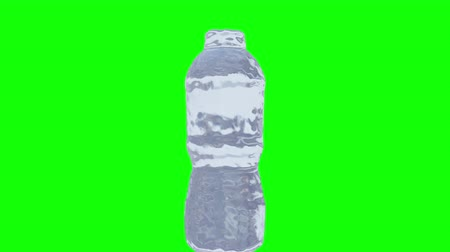 Slow motion Animation of Nature water bottle splash , Liquid swirling and splashing seamless loop and Motion background, 3D CG 4k Ultra HD 3840x2160, RGB with Alpha and screen. Stock mozgókép