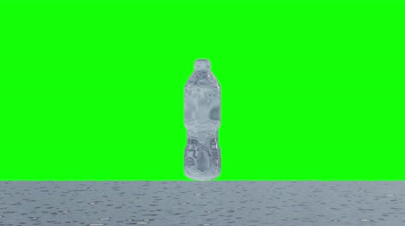 compositing : Slow motion Animation of Nature water bottle, Liquid swirling and splashing, Motion graphics, 3D CGI Compositing process, 4k Ultra HD 3840x2160, RGB with Alpha and Green screen.