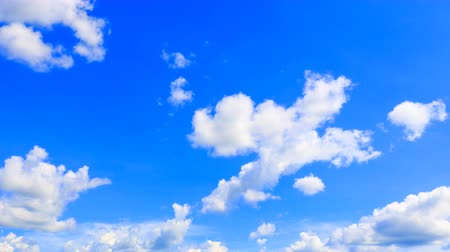 meteorologia : blue sky vivid which has storm cloudy summer in nature beautiful . 4k time lapse