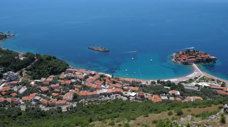rejtekhely : General good view of Sveti Stefan. Montenegro