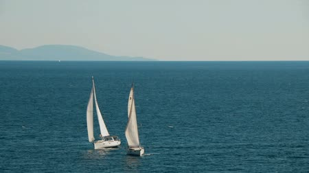 żaglówka : Yachts made a turn overshtag in the Adriatic sea