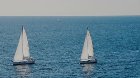 catamarano : A sailboats on the horizon in the beautiful Adriatic sea