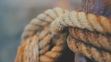 kazık : Close-up on knot rope