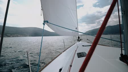croatia : On board the yacht in the Adriatic Sea sails